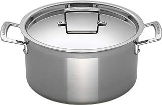 Le Creuset 3-Ply Olla sin tapa, Ø 20 cm, acero inoxidable, volumen 4,0 L, para todo tipo de fuentes de calor (incl. inducción), metálico