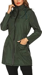 Lightweight Raincoat for Women Waterproof Packable Hooded Outdoor Hiking Long Rain Jacket Active Rainwear