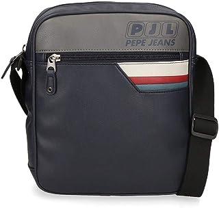 "Pepe Jeans Eighties Bandolera Portatablet 9,7"" Azul 23x27x6 cms Piel Sintética"