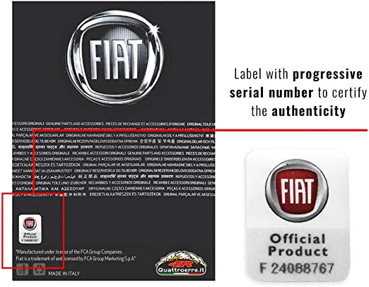 Fiat 21211 Official Wheel Cover Stickers 4 Logos 48 mm