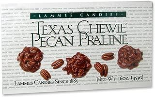 Lammes Candies Texas Chewie Pecan Praline 16oz Caramel Pecans Pralines Boxes Individually Wrapped Chewies