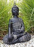 Estatua hecha a mano Figura decorativa de Buda Accesorio Feng Shui para la meditación para jardín, Buda de interior o exterior, resistente a las heladas 45cm