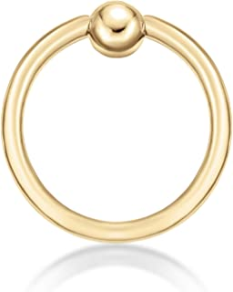 Best gold captive hoops Reviews