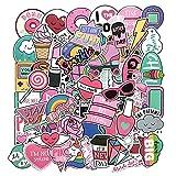 HUNSHA 61 lindo rosa japonés y coreano dos dimensiones niña corazón maleta de dibujos animados graffiti maleta coche cuerpo pegatinas
