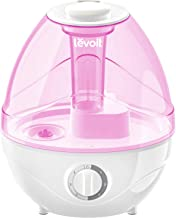 LEVOIT Humidifiers for Bedroom and Babies (BPA Free), Ultrasonic Cool Mist, Easy to Clean, Optional Night Light, Lasts up to 24 Hours, 2.4L, Pink