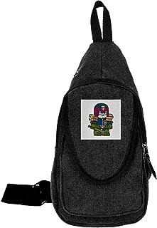 Mitesized Judge Dredd Traveling Chest Bags For Men&Women Multipurpose Casual Daypack Hiking Shoulder Bag