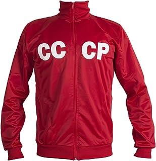 JL Sport Soviet Union CCCP USSR 1970's Retro Football Jacket Classic Vintage Tracksuit Man Top - Replica