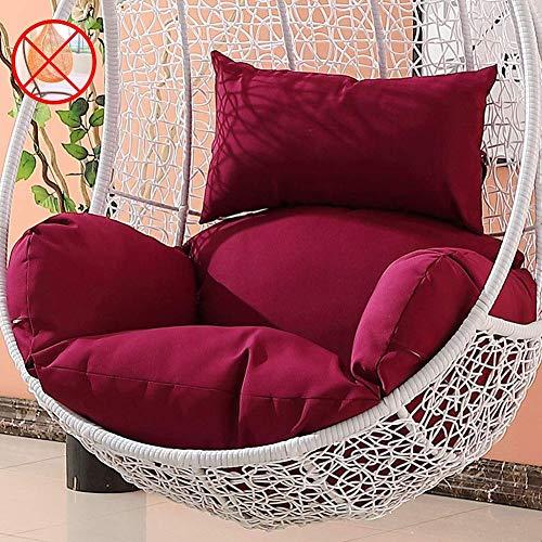 LDIW Hangstoel stoelkussen, ademend comfort zitkussen voor hangende ei-stoel hangmat rugkussen zonder houder (alleen stoelkussen, geen stoel) fuchsia
