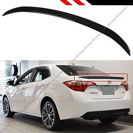 Carbon Look Shark Fin Rear Roof Spoiler Wing For 2013-2018 Toyota Corolla Sedan