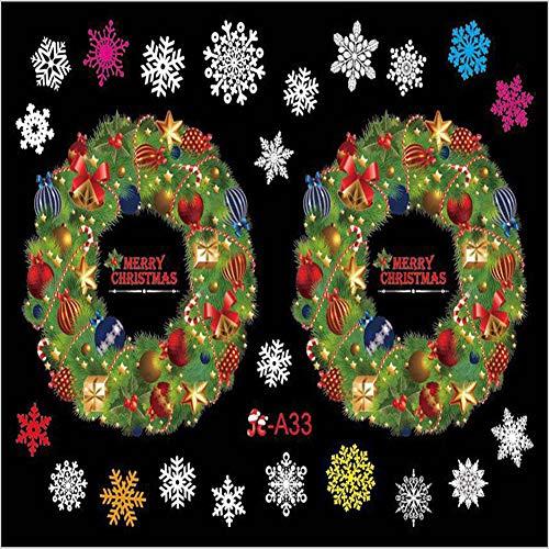 Einsgut raamsticker voor kerst, raamsticker, pvc, raamdecoratie, DHZ, kerstmis, raamdecoratie, zelfklevend, raamfolie, kerstdecoratie Jc-A33