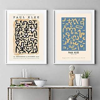 Or et Bleu Géométrie Toile Poster tentures murales Home Art Abstrait Imprimé Décor