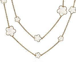 Best clover flower necklace Reviews