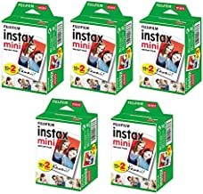 Generic Mini Instant Twin Packs Film for Fujifilm Mini 7s / 8/9 / 25 / 50s / 70/90 Mini 9(5 Twin Packs, 100 Total Pictures)