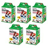 Generic Mini Instant Twin Packs Film for Fujifilm Mini 7s / 8/9 / 25 / 50s / 70/90 Mini 9(5 Twin Packs, 100 Total Pictures)