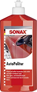 Sonax Car Polish with Carnauba Wax - Restore Deep Brilliant Shine to Dull Paintwork, Glossy Showroom Finish, Protects Trea...