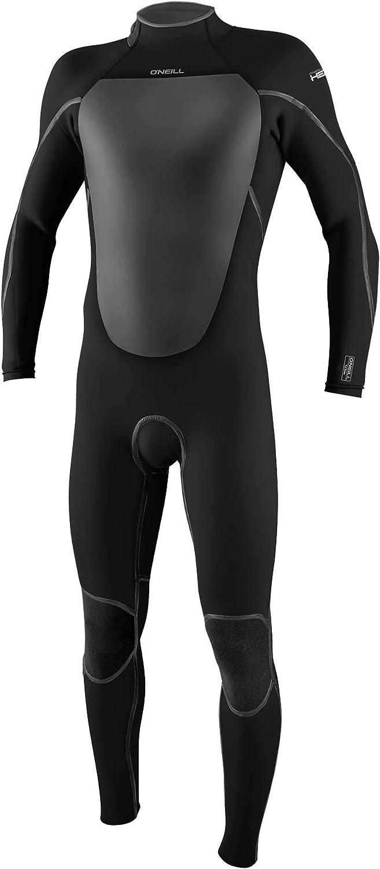 O'Neill Men's 信託 Heat 4 3mm Zip Wetsuit Back Full 全商品オープニング価格