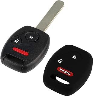 Key Fob Keyless Remote fits 2007-2015 Honda Vehicles + Protective Cover (MLBHLIK-1T)