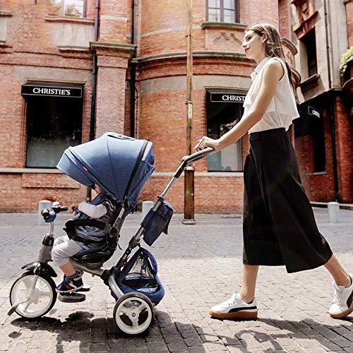 Triciclos Triciclos para niños de 12 meses a 6 años Cinturón de seguridad de 5 puntos 360° Silla de montar giratoria Triciclo de niños Rueda trasera con freno Bastidor fuerte Trike para niños Peso máx