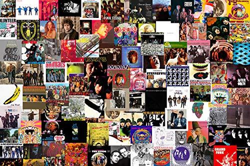 DFGHA Rompecabezas de 300/500 Piezas Greatest Rock Albums, Rompecabezas y Rompecabezas de Galaxias para Adultos y Adolescentes, Rompecabezas Cada Pieza es única, póster de Doble (1000PCS)