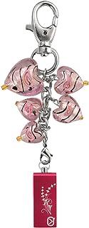 View Quest Intelligent Jewellery VQ-IJK-002 8GB USB Flash Drive - Pink Hearts Keyring