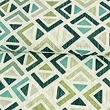 Stoffe Werning Dekostoff Geometrisches Muster grün