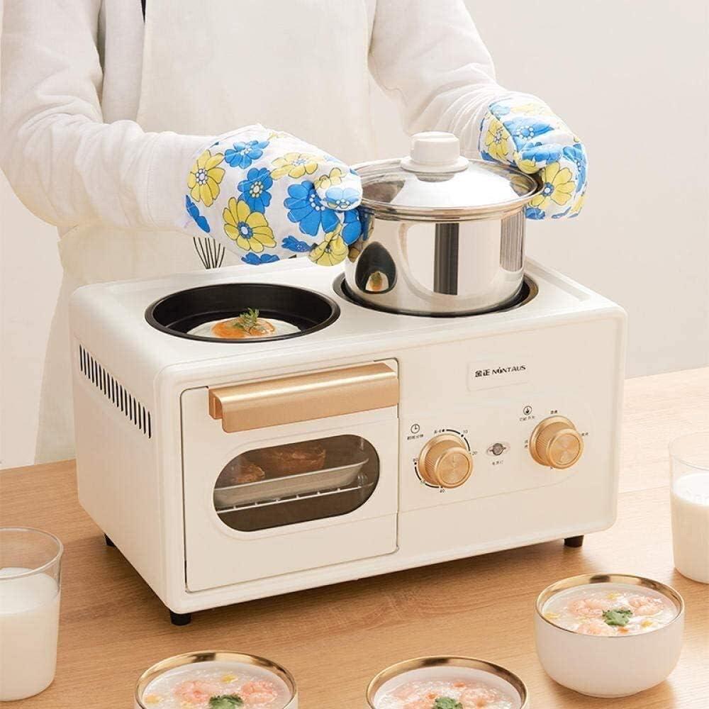 Machine à Pain Grille-Pain Machine à Pain Maison Multi-Fonction Petit déjeuner Petit Grille-Pain Machine entièrement Automatique Machine à Pain numérique (Color : White) White