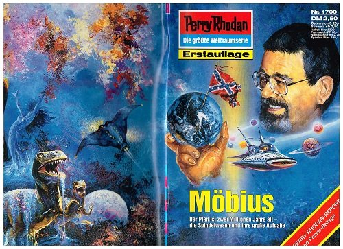 Perry Rhodan Erstauflage Nr. 1700 Möbius, mit Poster, März 1994, Roman-Heft