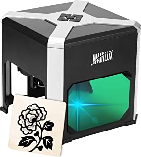 """Laser Engraving Machine, WAINLUX K6 Portable Laser Engraver 3000mW, Laser Printer Engraver Etching Range 3.15""""×3.15'', Sup..."""