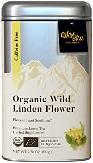 Organic Linden Herbal Tea - Caffeine Free Loose Flower Tisane - 1.76 Ounces (25 Servings)
