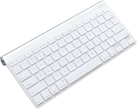 Silicone Keyboard Cover for US Layout Wireless Bluetooth Keyboard MC184LL/B (A1314) Ultra Thin Protective Skin (Keyboard Cover- Clear)
