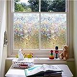 LMKJ Lattice Static Close to Glass Film, Vinyl Frosted Geometric Window Film, Privacy Window Sticker Glass Film A2 45x100cm