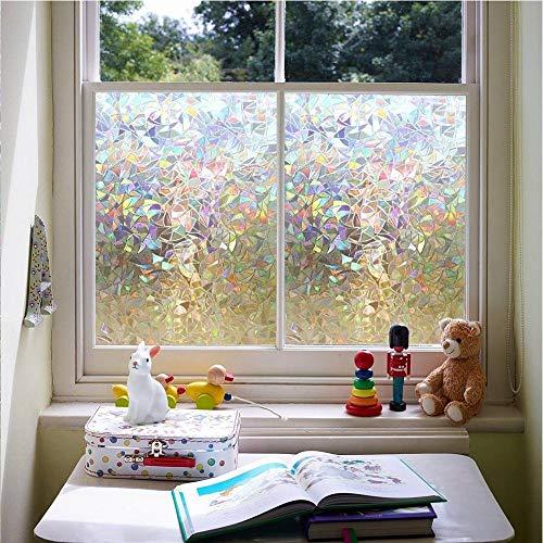 LMKJ Lattice Static Close to Glass Film, Vinyl Frosted Geometric Window Film, Privacy Window Sticker Glass Film A2 30x100cm