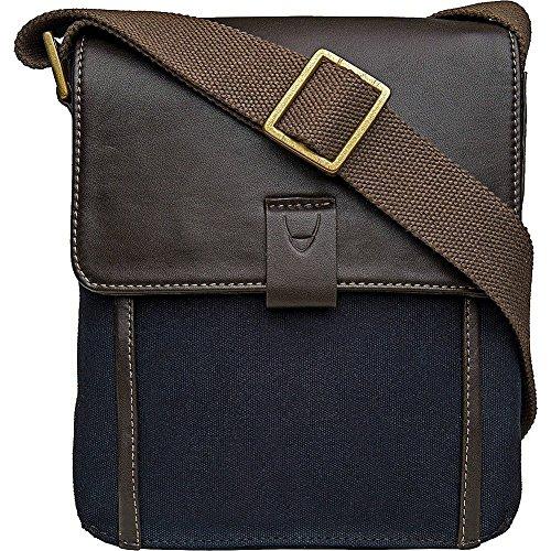 Hidesign Aiden Genuine Leather and Canvas Mini Crossbody Men/Women Messenger Bag / Travel Bag / 10.5