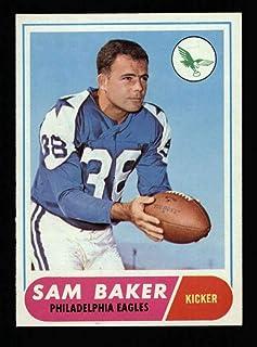 1968 Topps Football #032 Sam Baker STARX 6.5 EX/MT+ CS25478