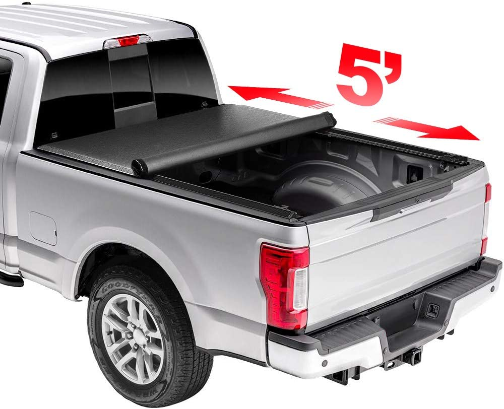 Yhang Max 45% OFF 5' Super popular specialty store Soft Rollup Tonneau Cover for 2015-2020 2015- Colorado