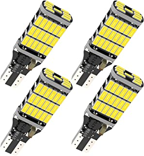 4pcs 921 LED Bulb 6000 Lumens 6500K 4014-45SMD Chipsets T15 912 W16W LED Bulbs Used For Backup Reverse Lights- Xenon White