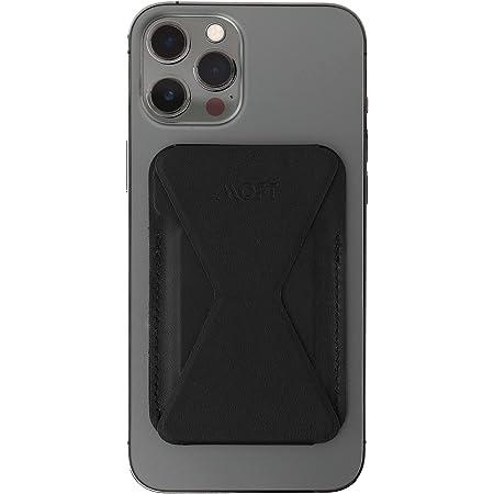 MOFT スマホ iPhone13 ウォレットスタンド マグネット mag safe iPhone7.8.X.11 iPhone12 pro mini (Magsafe対応(iPhone12.13シリーズ), Black)