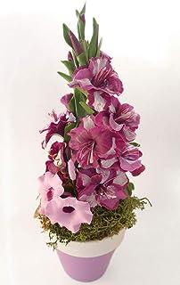 Flores de Porcelana Rusa Miniatura Gladiolos Morados Home Decor regalo - HAND MADE