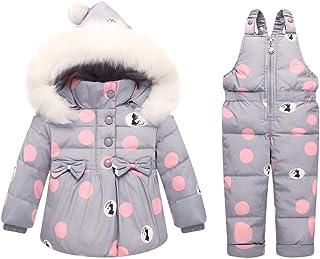 Odziezet Sneeuwpak voor meisjes, wintermantel, skibroek, capuchon, sneeuwbroek, jongens, sneeuwkleding, set van 9 maanden ...