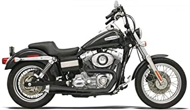 Bassani Xhaust 07-17 Harley FXDB3 Road Rage 2-Into-1 Exhaust (Black/Short Upswept Not Stepped with Forward/Mid Controls)