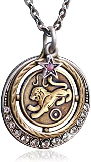Zodiac Sign Astrology Horoscope Pendant Necklace Birthday Gift - All 12 Sun Signs Available