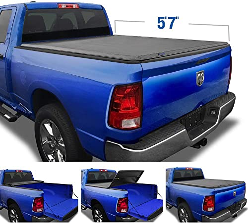 Tyger Auto T3 Soft Tri-Fold Truck Bed Tonneau Cover Compatible with 2009-2018 Dodge Ram 1500 | 2019-2021 Classic Only...