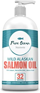 Wild Alaskan Salmon Oil for Dogs 32 Ounce; Natural Liquid Supplement with Omega 3's to Support Joint, Heart, and Immune He...