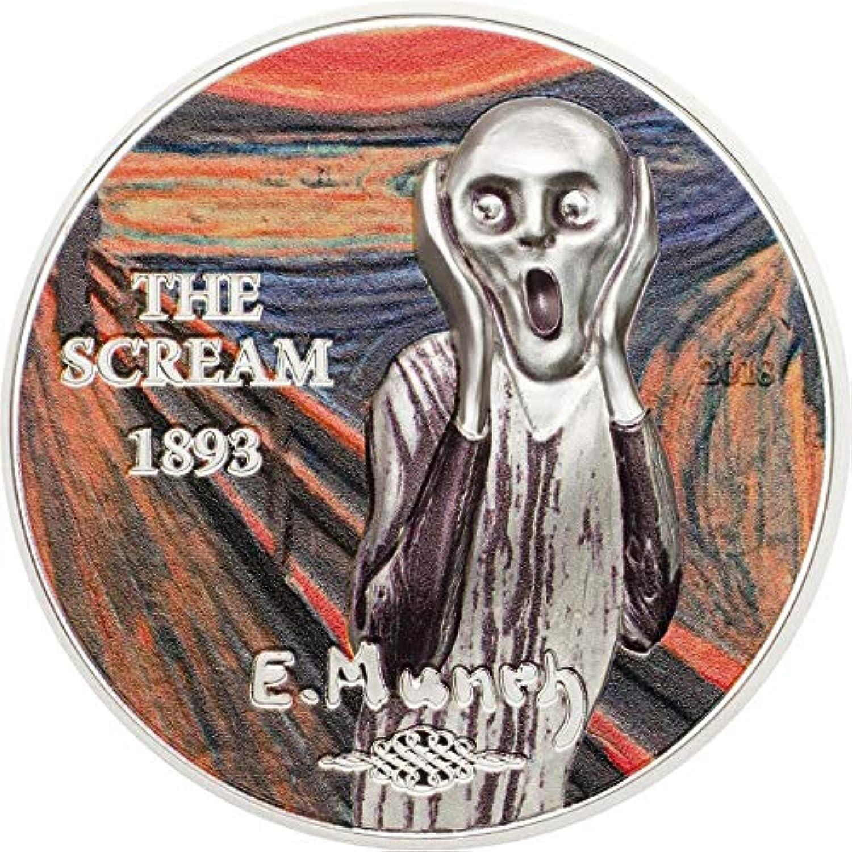SCREAM Munch Revived Art 1 Oz Silver Coin 5  Palau 2018