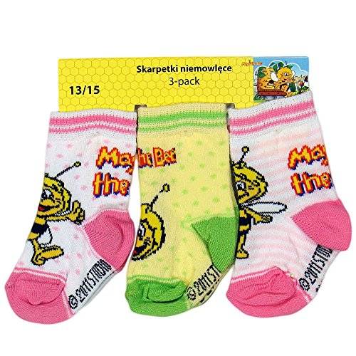 Biene Maja Socken Strümpfe 3 Paar Set (16-18cm)