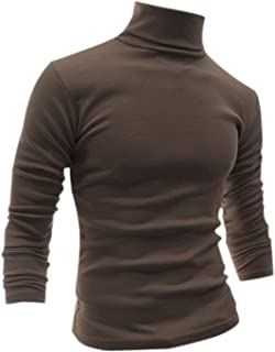 uxcell Men Slim Fit Lightweight Long Sleeve Pullover Top Turtleneck T-Shirt