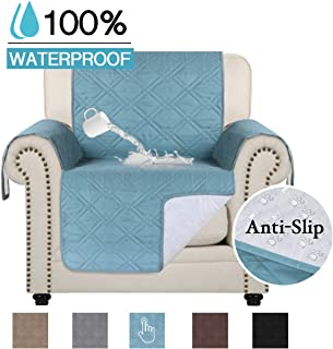 100% Water Resistant Chair Slipcover Waterproof Furniture Protector Slip Reducing Backing Non-Slip Chair Covers Non-Slip Washable Waterproof Pads for Furniture (Chair 75