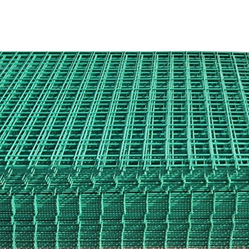 Suregreen 6 Pack of Green PVC Coated Welded Wire Mesh Panel 1.8m x 90cm (6ftx3ft) 2x2 Holes, Safe Plastic Coating Perfect for Animal Cages and Fences