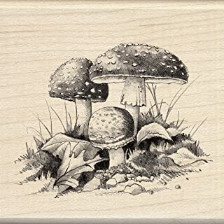 Inkadinkado Wood Stamp, Mushrooms