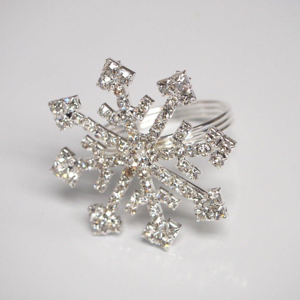 Rhinestone specialty shop Snowflake Popular product Frozen Ring Napkin 2-Inch Holder